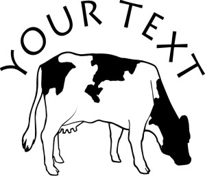 Farm Animal Vinyl Decals Stickers With Free Custom Text