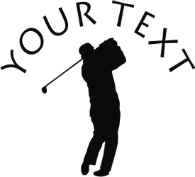 Golf Player Decal